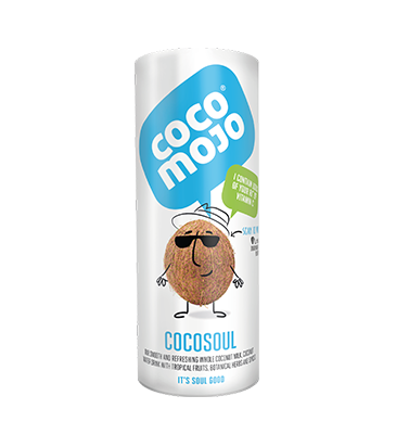 CocoMojo Soul - A refreshing coconut milk and coconut water energy drink with botanical herbs, fruits and spices.